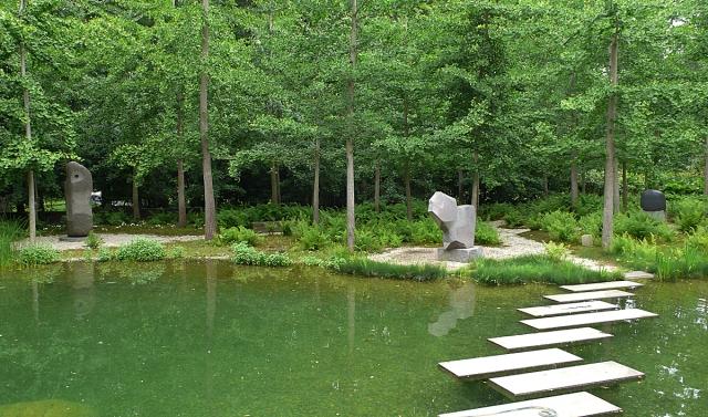 The Riggio pond garden, designed on former wetlands by Edwina von Gal.