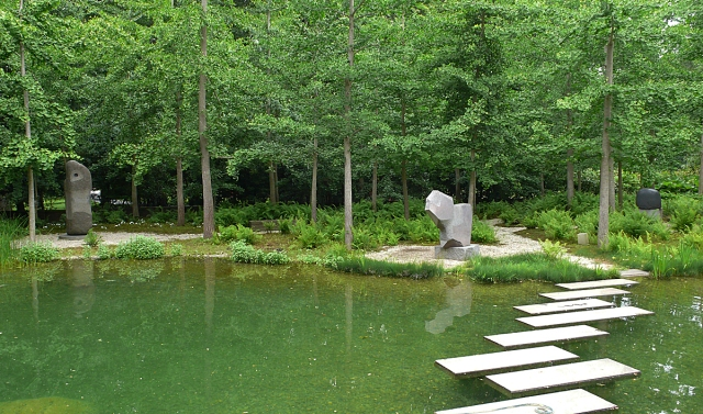 The Riggio pond garden, designed on former wetlands by Edwina von Gal.