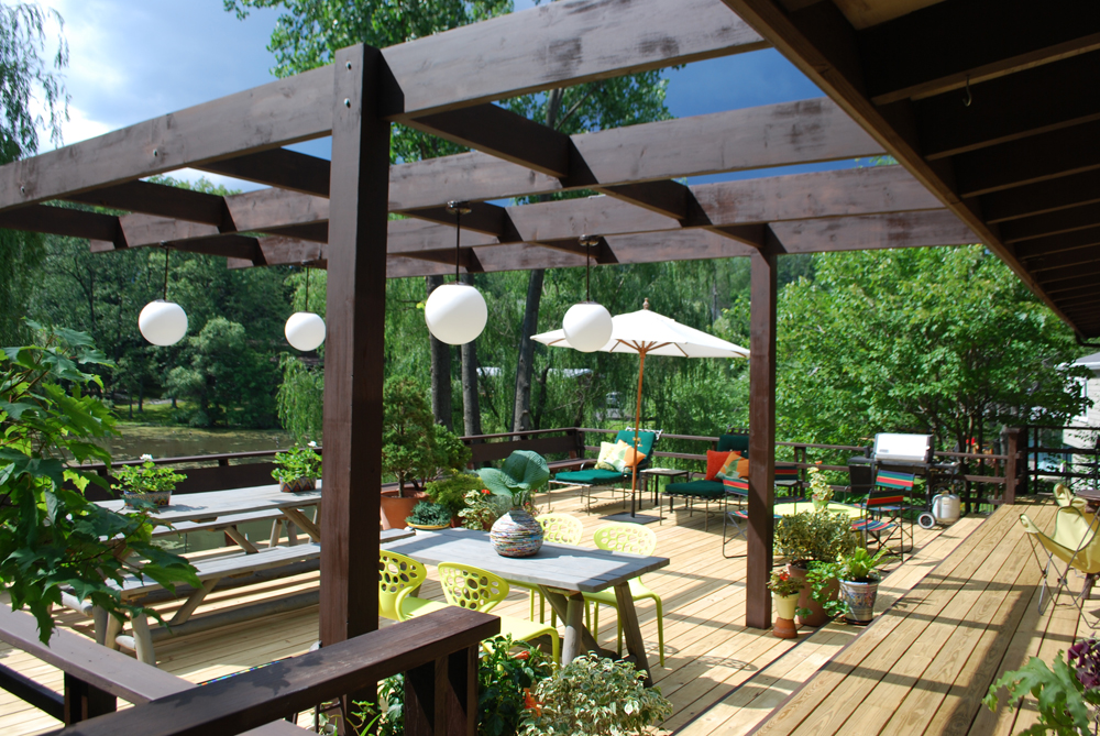 All decked out dig it for Pergola lighting ideas